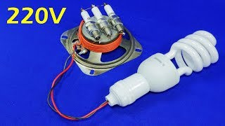 Video Free Electricity Generator 220V CFL Energy Light Bulb NEW AC Electric Generator 2019 New Experiment MP3, 3GP, MP4, WEBM, AVI, FLV Juni 2019