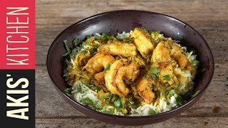 Spicy coconut shrimp with turmeric | Akis Kitchen by Akis Kitchen