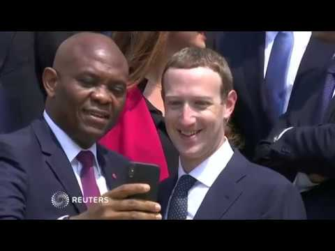 Macron tells tech CEOs to give more to society