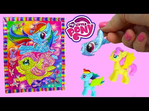 My Little Pony Rainbow Dash Sticker By Number Crystal Masterpiece Puzzle Fluttershy MLP Fun (видео)