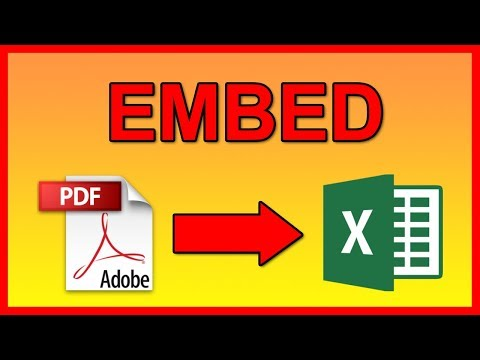 How To Embed A PDF Document Into Excel 2016 File - Tutorial