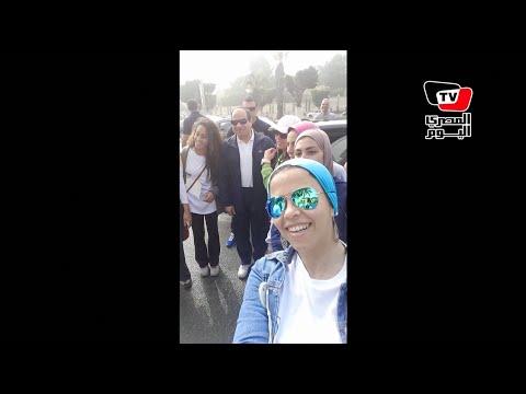 قصة صورة| «سيلفى» السيسى مع متسابقى « Cairo runners»