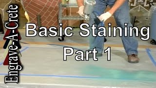 Basic Concrete Staining Part 1