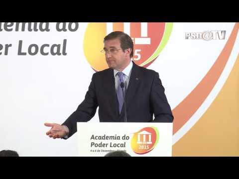 Pedro Passos Coelho na II Edição da Academia do Poder Local