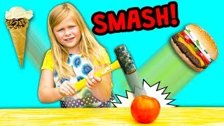 FOOD SMASH Surprise Find Healthy Foods With Assistant Surprise Toys and Candy