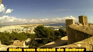 Zeitrafferfilm: Blick vom Castell Bellver