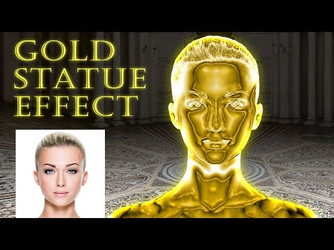 Photoshop: Turn Yourself into a GOLD Statue!