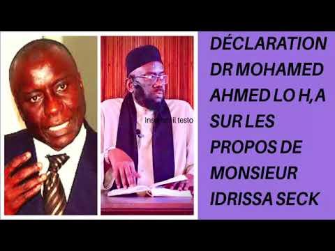 Déclaration Dr Mohammed Ahmed lo H,A sur les propos de monsieur idrissa secke🎧🎙🔊