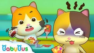 Video Baby Kitten Creates New Recipes | Cooking Pretend Play | Ice Creams, Hamburger Song | BabyBus MP3, 3GP, MP4, WEBM, AVI, FLV Juli 2019