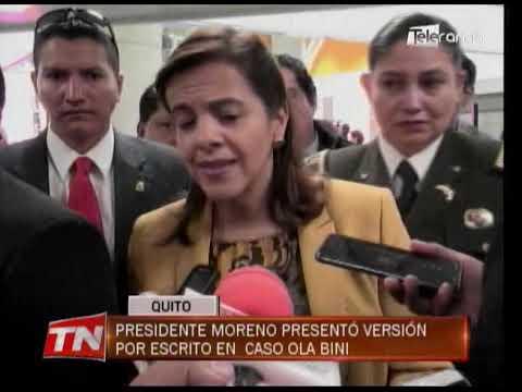 Presidente Moreno presentó versión por escrito en caso Ola Bini