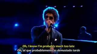 BRUNO MARS   WHEN I WAS YOUR MAN   Subtítulos Español & Inglés