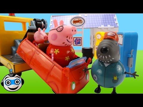 Papá Pig conduce muy rápido