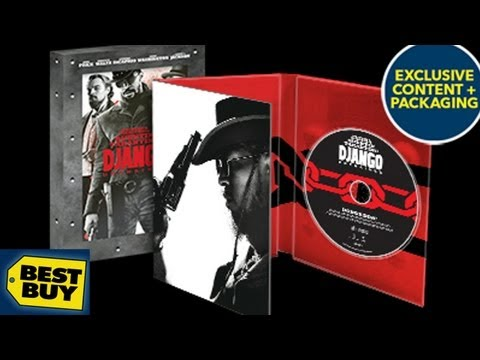 Django Unchained Best Buy Exclusive Blu-ray/DVD DigiPack Unboxing - (2012) - Quentin Tarantino