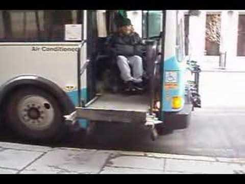Bus wheelchair lift