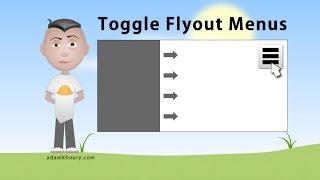 Control Panel Flyout Menu Windows JavaScript CSS Animations