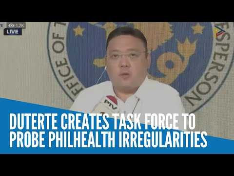 Duterte creates task force to probe PhilHealth irregularities