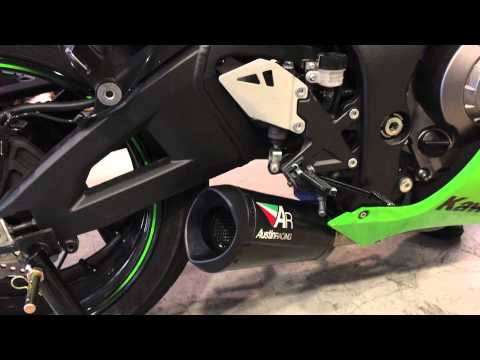 kawasaki ninja zx-10r austin racing exhaust sound