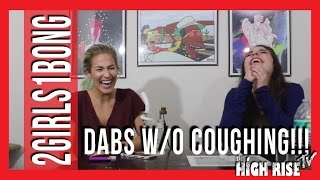 Trying to take dabs without coughing LOL by 2 Girls 1 Bong