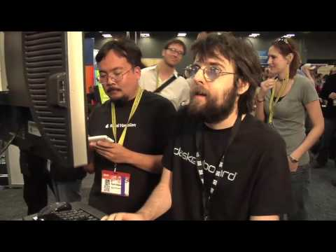 fastest - Sean Wrona wins the 2010 Ultimate Typing Championship at SXSW in Austin in a typing competition head to head with Nate Bowen.
