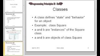 Ruby II - Classes - Lecture 3