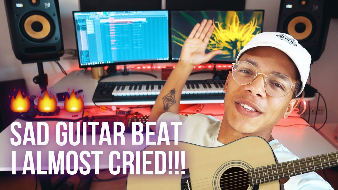 THIS SAD GUITAR TRAP BEAT WILL MAKE YOU CRY!!! 😥😥 (Chuki Beats Making A Beat)