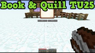 Minecraft Xbox 360 + PS3: Book And Quill Confirmed - TU25 Catching Up To PC!?