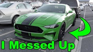 I Made a MISTAKE modifying my 2019 Ford Mustang GT!
