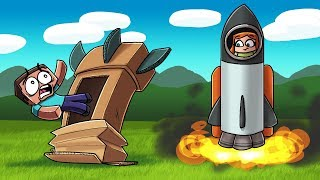 Crazy Minecraft - HOW TO BUILD  A ROCKET LIKE A PRO! (Spaceship Mod)