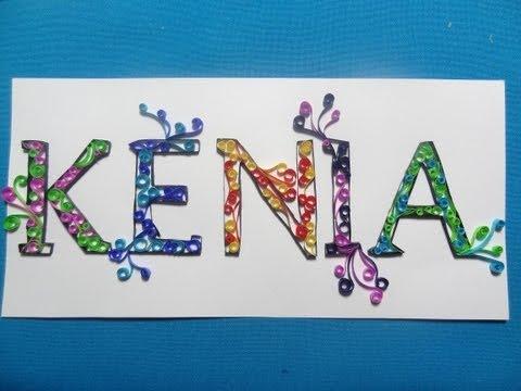 filigrana - Haz un nombre con filigrana para decorar una puerta o un regalo, es muy sencillo.