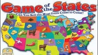 "A review on how to play the board game Game Of The States.This game teaches the location of each of the states, the capital city, its important industries and products, which the players buy and sell. The object of the game is to buy a product in one state and haul it on a truck to another state where you try to sell it at a profit. ""Who Sells the Most From Coast to Coast?"""