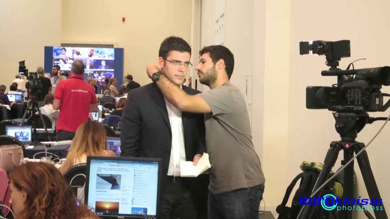 Η ανακοίνωση των exit polls στο κέντρο Τύπου στο Ζάππειο