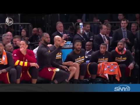 Video: Cavs Water Bottle Challenge: Offensive to Knicks?