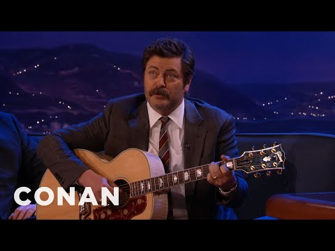 Nick Offerman's Sundance Secret Is a Song About P**sy and Weed (NSFW Language)