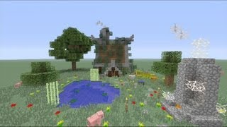 How to build a Small Rustic House in Minecraft ( H