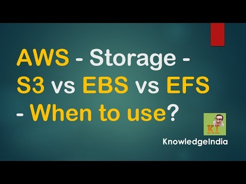 AWS Storage - S3 vs EBS vs EFS Comparison | When to use?