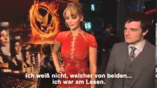 Jennifer Lawrence and Josh Hutcherson answer questions