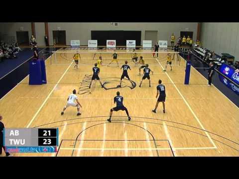 2016-01-08 TWU Men's Volleyball Highlights vs Alberta