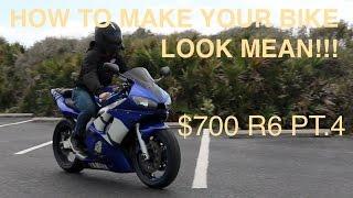 9. PLASTI DIPPING MY R6 || Budget Yamaha R6 Build Pt. 4