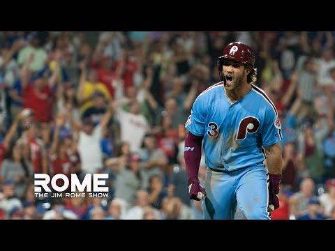 Video: Bryce Harper HITS Grand Slam Walk-Off! | The Jim Rome Show