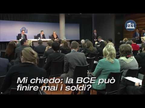 draghi ammette che la BCE non può fallire perchè crea denaro dal nulla! (видео)