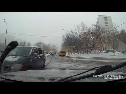 ДТП в Москве на пересечении Волжского бульвара и Грайвороновской улицы