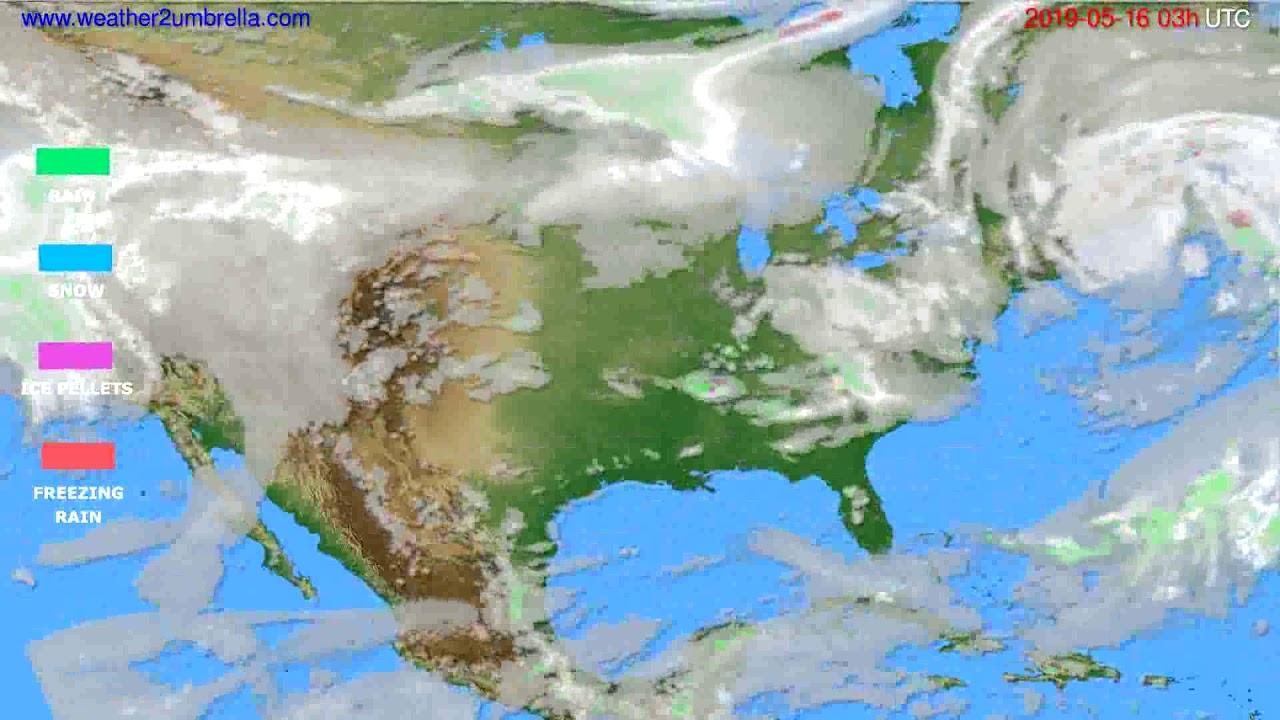 Precipitation forecast USA & Canada // modelrun: 00h UTC 2019-05-13