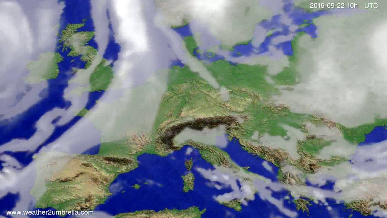 Cloud forecast Europe 2016-09-20