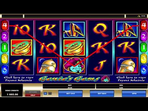 FREE Genies Gems ™ slot machine game preview by Slotozilla.com