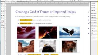 Donna Caldwell CS 72 11A Adobe InDesign 1 Grid and Gap Tools Part 1 02 26 2013