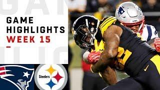 Patriots vs. Steelers Week 15 Highlights   NFL 2018