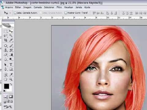 Photoshop CS2 - Como mudar a cor do cabelo PARTE 2