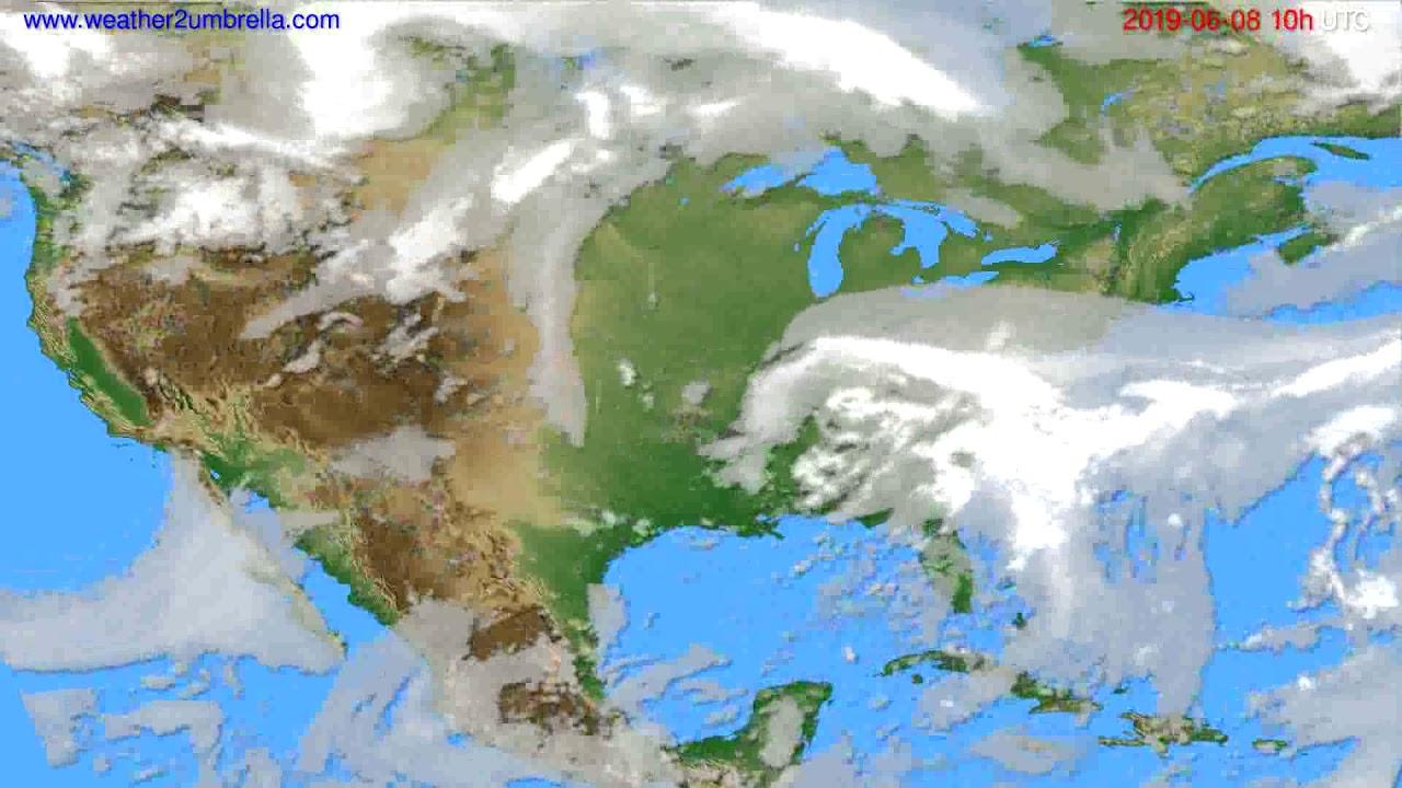 Cloud forecast USA & Canada // modelrun: 00h UTC 2019-06-06