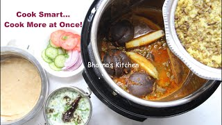 Multiple PIP Recipes Cosori Instant Pot Indian Cuisine Meal Video Recipe | Bhavna's Kitchen