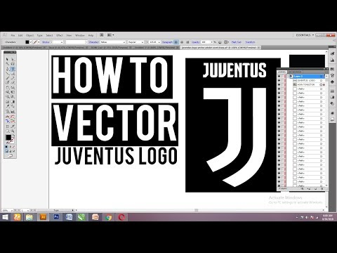 HOW TO VECTORIZE JUVENTUS LOGO & DOWNLOAD FILE VECTOR